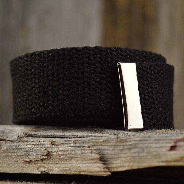 sangle en chanvre couleur noire pour ceinture sangle seule